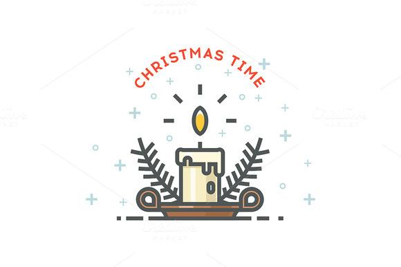 Christmas Illustrations Line Art