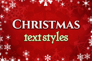 Christmas text styles