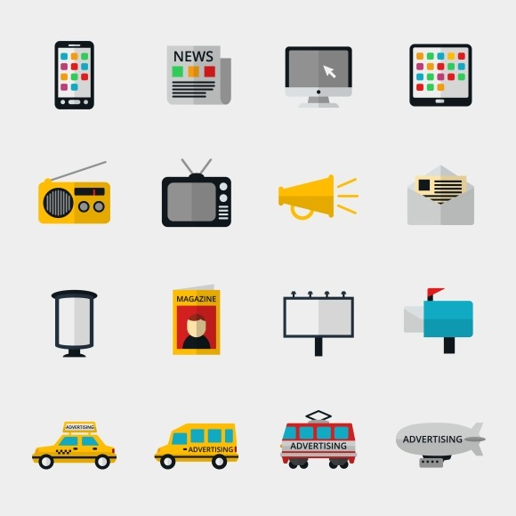 Advertisement And Marketing Icons