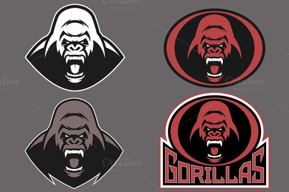 Funky Gorilla Head Vector Illustration  Download Free
