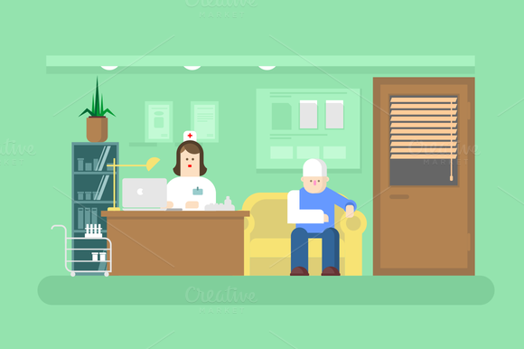 Reception Of Doctor In Clinic