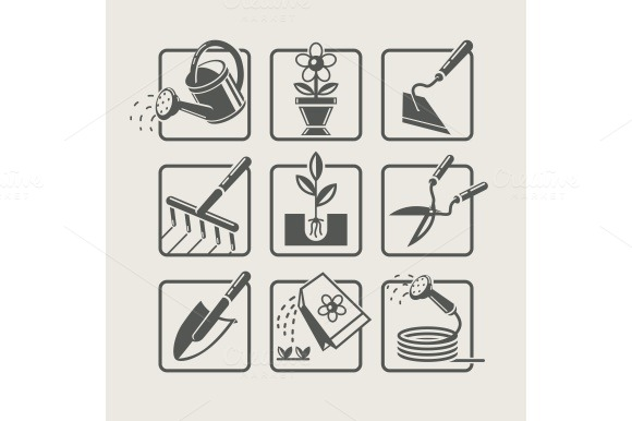 Garden tools. Icons set  - Icons