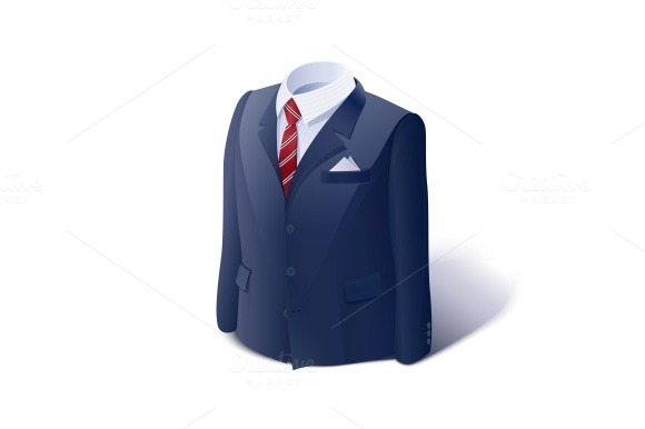 Jacket and shirt. Business suit. - Illustrations