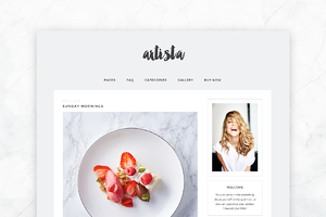 Responsive Wordpress Theme- Artista