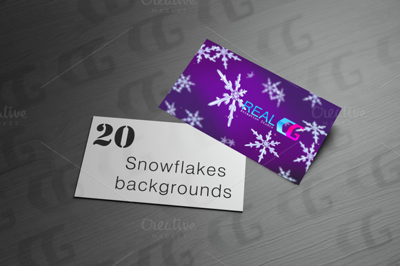 20 Snowflakes Colour Mix Backgrounds