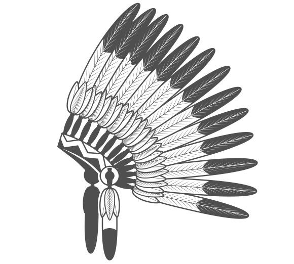 Native American Feathered War Bonnet