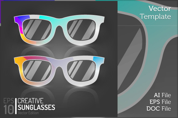 Vintage Glasses Flat Isolated Vector - Objects