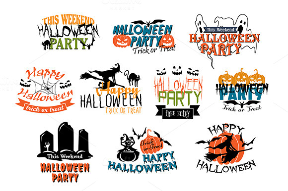 Halloween Party And Happy Halloween