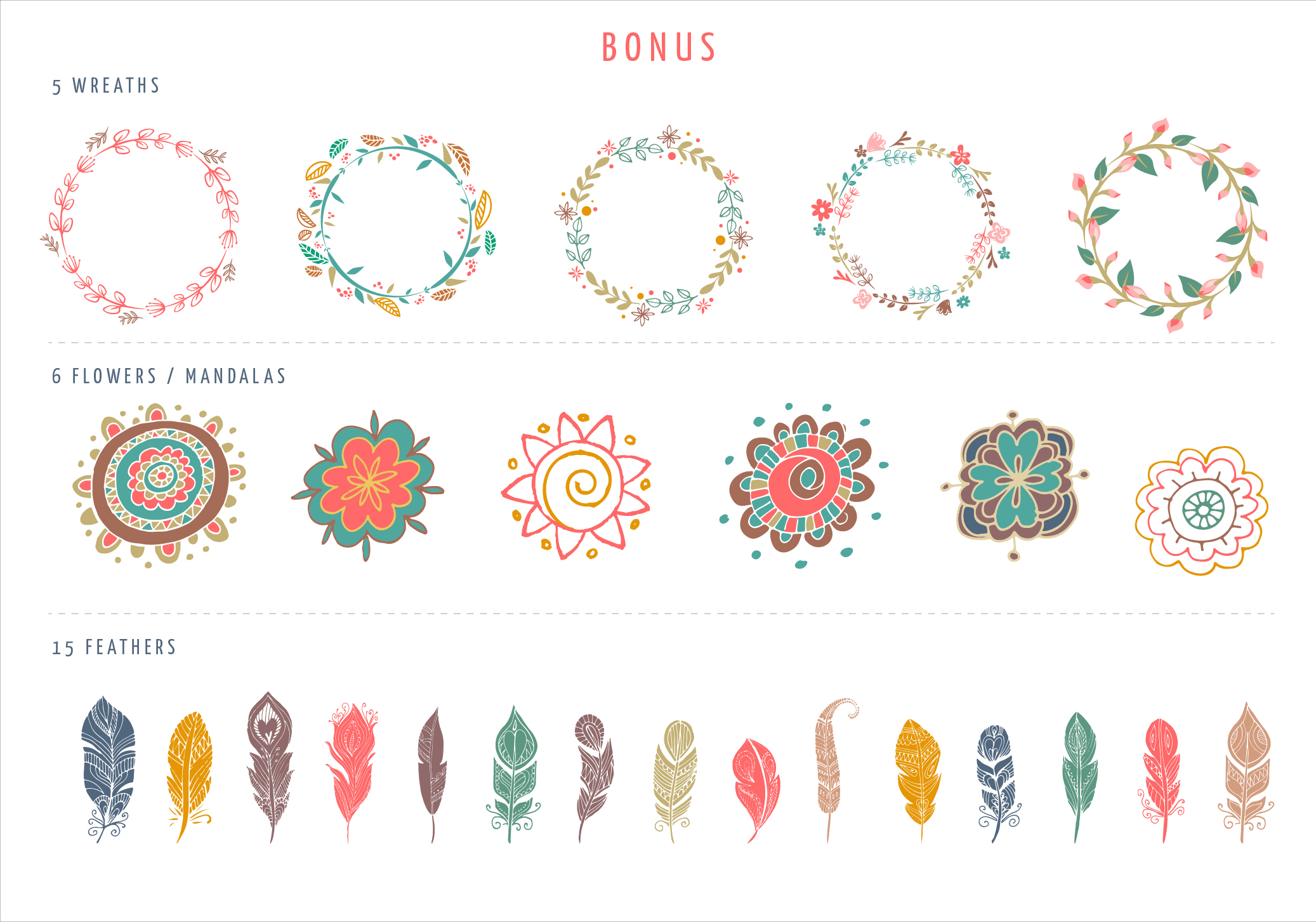 Bohemian Logos bundle + BONUS ~ Logo Templates on Creative ...