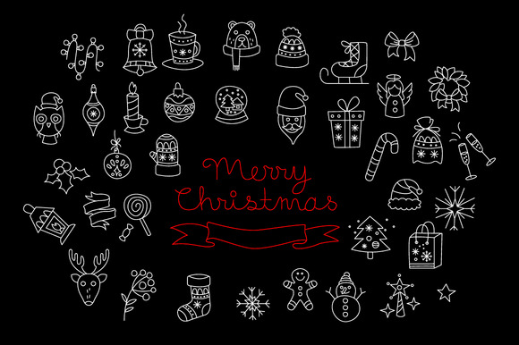 Merry Christmas Holiday Elements