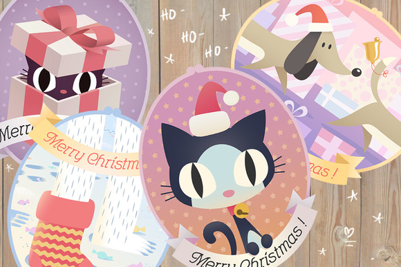 Christmas Cats And Co Set
