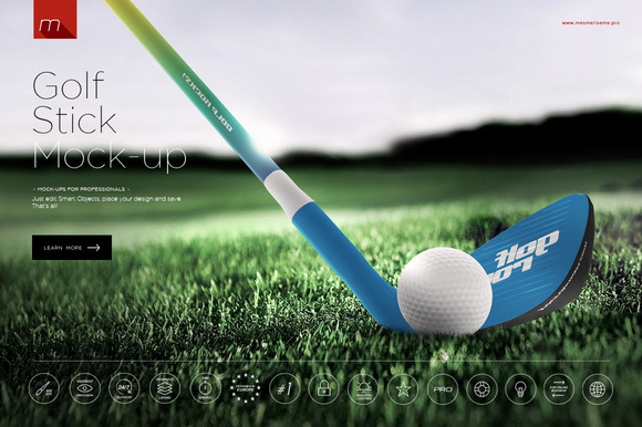 Golf Stick Mock-up