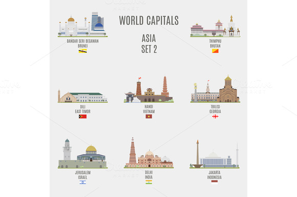 World capitals. Asia # 2 - Objects