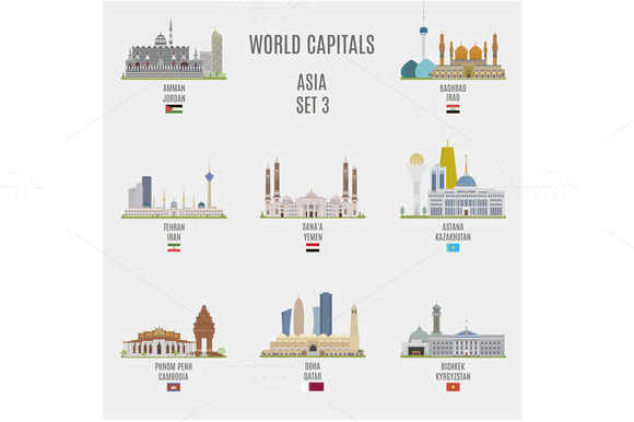 World capitals. Asia # 3 - Objects