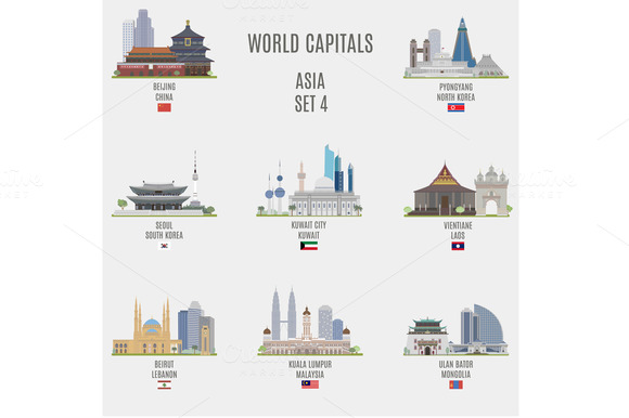 World capitals. Asia # 4 - Objects