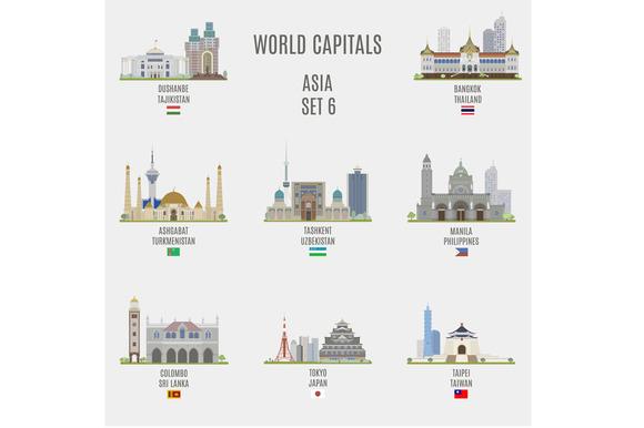World Capitals Asia # 6