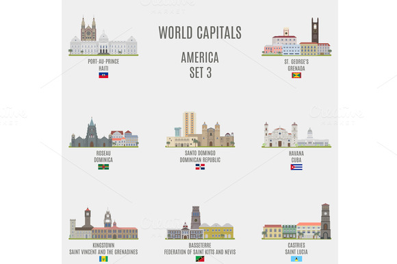 World capitals. America # 3 - Objects