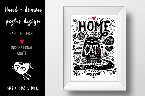 Home is where a cat is.. - Illustrations