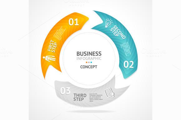 Infographics Circle Vector