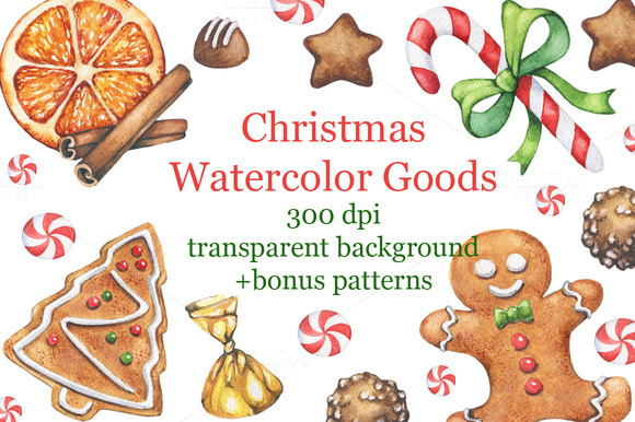 Christmas Watercolor Goods