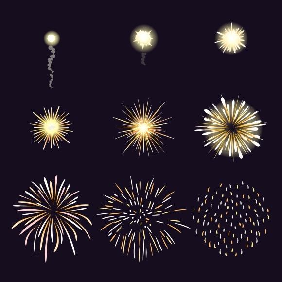 Animation Of Firework Effect