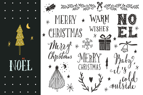 Noel Christmas Hand-lettering