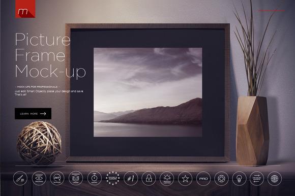 Modern Picture Frame Mock-up