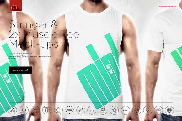 Stringer Singlet T-Shirt Mock-up