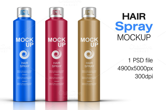 Hair Spray Bottle Mockup Vol. 2 - Product Mockups
