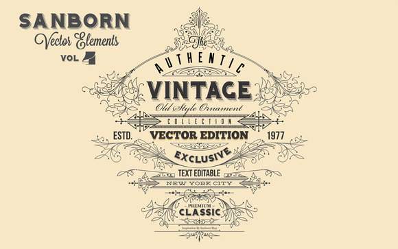 Sanborn Vector Elements Vol. 4 - Objects