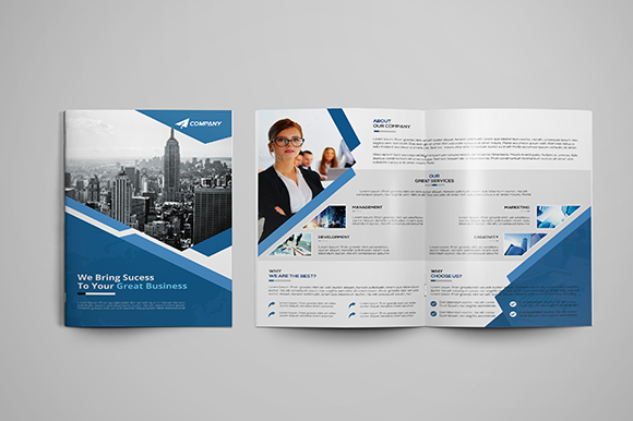 Corporate bi fold brochure brochure templates on for Free bi fold brochure template 2