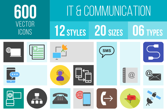 600 IT Communication Icons