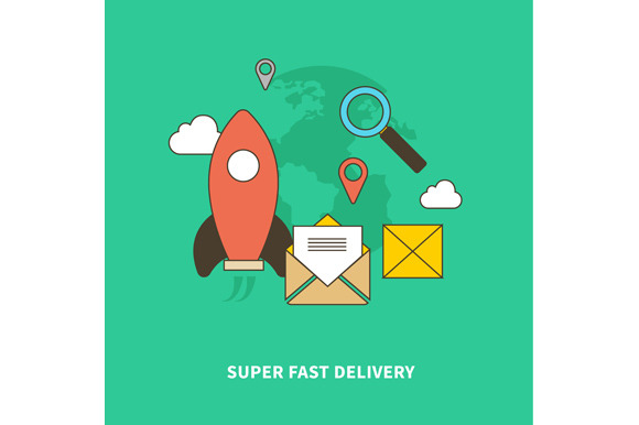 Concept Of Super Fast Delivery