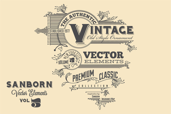Sanborn Vector Elements Vol. 5 - Objects