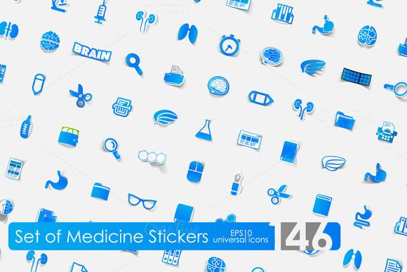 146 Medicine Stickers