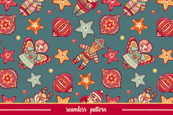 Seamless pattern. Christmas style. - Textures