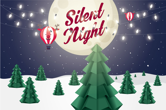 Silent Night Vector