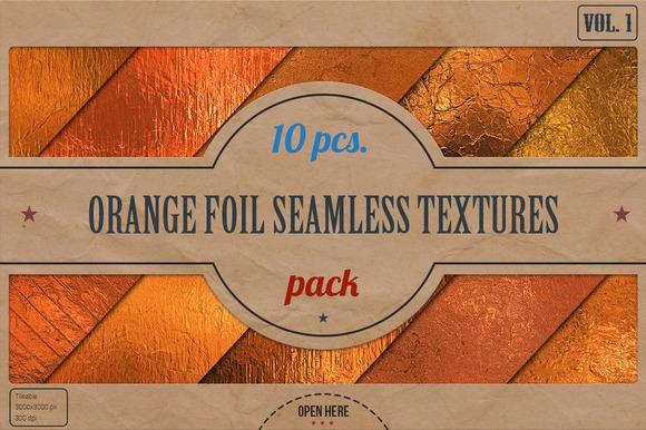 Orange Foil Textures Pack v.1 - Textures