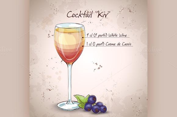 Kir Alcohol Cocktail