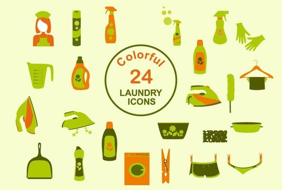 Set Of Laundry Icons