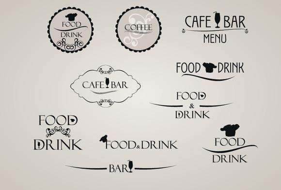 Food And Drink Label Set