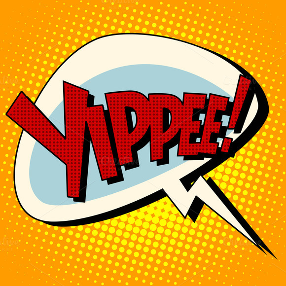 Yippee Win Comic Book Bubble Text