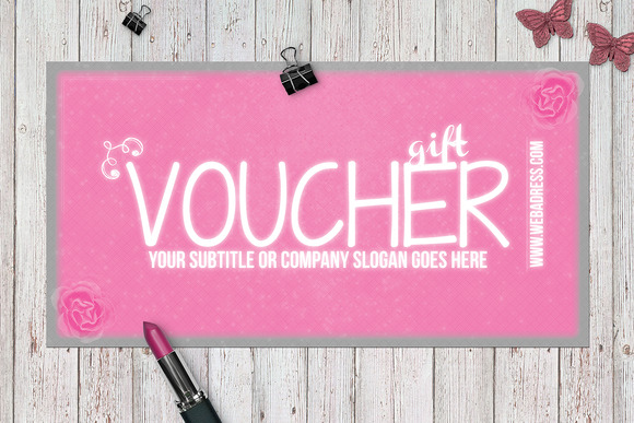 fancy pink gift voucher