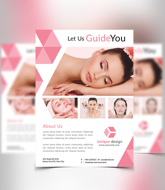 free spa brochure templates - beauty spa flyer flyer templates on creative market