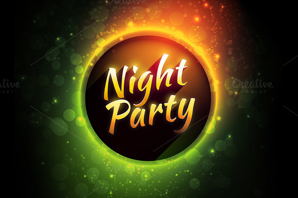 Night Party Vector Banners