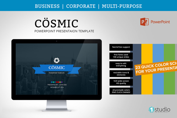 Creativemarket Cosmic Powerpoint Template 456377 Other