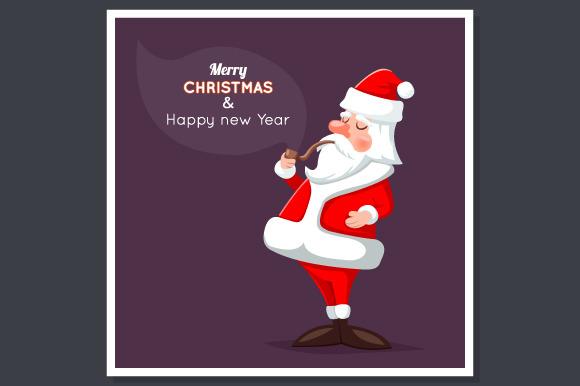 Cartoon Santa Claus Character Poster