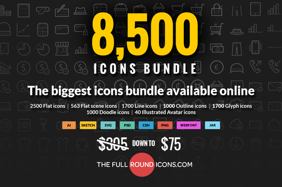 8500 Icons Bundle Full Shop