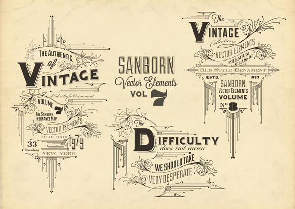 Sanborn Vector Elements Vol. 7 - Objects