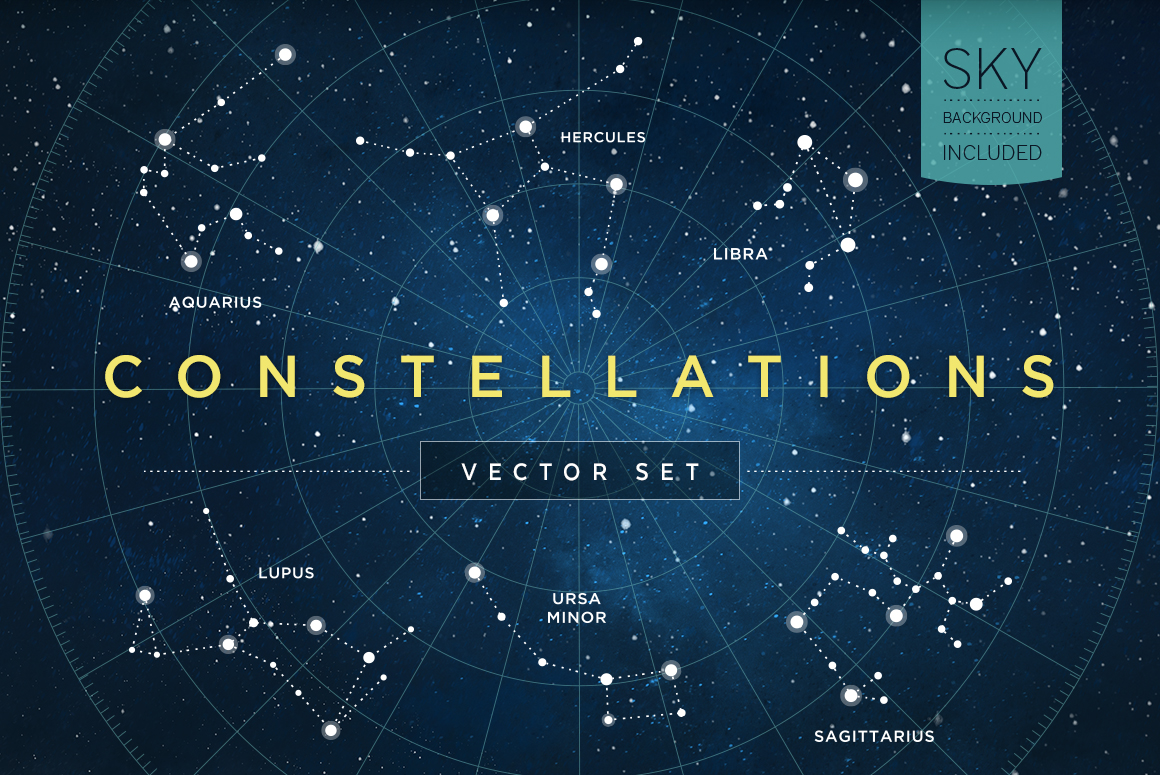 Constellations Vector Set Illustrations On Creative Market